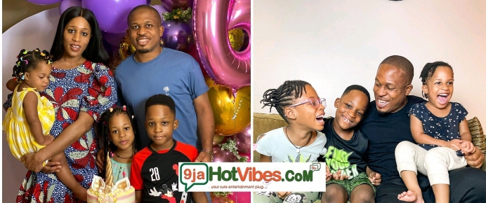 """Soso clocks 3 today""""-Rapper, Naeto C and wife, Nicole celebrate their daughter, Naesochukwu."""