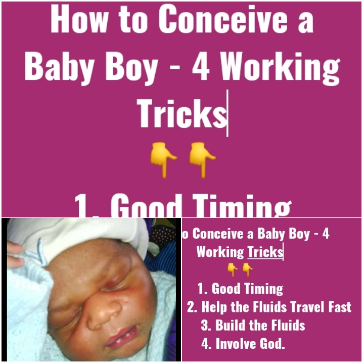 Tricks on How to become Pregnant and conceive baby Boy/ Male Child