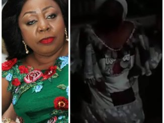 I know we have wronged you, please forgive us-Senator Florence Ita-Giwa goes on her knees to beg protesting residents in Cross Rivers state (video)
