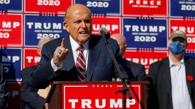 """""""It's far from over, there are 600,000 ballots in question""""- Trump lawyer Rudy Giuliani says president won't concede until legal options are exhausted"""