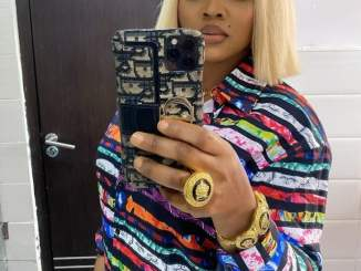 Nollywood Actress, Mercy Aigbe Shows Off Expensive Gold Versace Ring And Bangle (Photo)