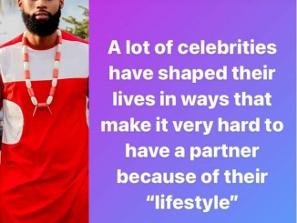 BBNaija's Tochi shares his thought as to why most celebrities find it hard to have a partner