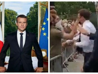 If you try it with Buhari, you'll die - Dele Momodu, Sowore and others react to viral video of a man slapping French President, Emmanuel Macron