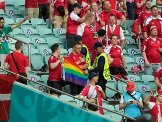 UEFA investigating confiscation of rainbow flag in Baku