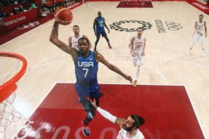 Kevin Durant leads Team USA over Spain into semis