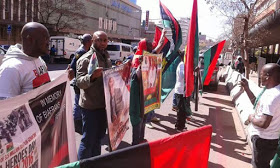 Biafran Members At United Nations Headquarters In South Africa