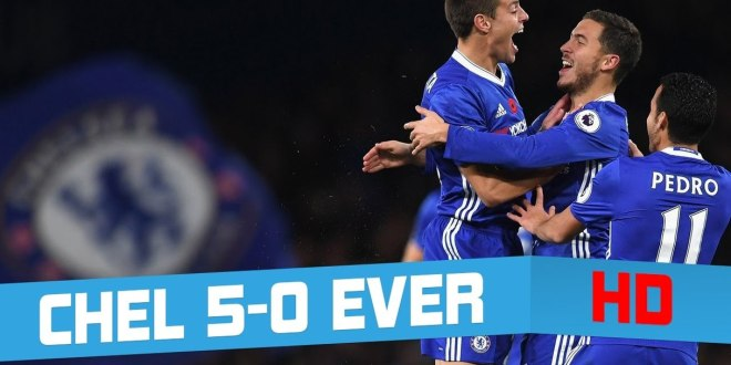 EPL VIDEO: Chelsea 5 – 0 Everton All Goals & Extended Highlights