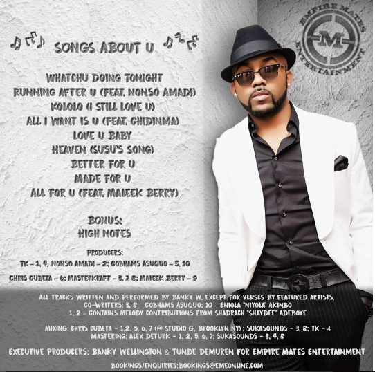 Banky W ft. Nonso Amadi – Running After U