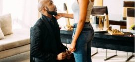 Check Out Photo of Banky W & Adesua Etomi Kissing After They Got Engaged