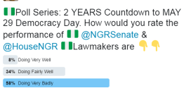 Nigerians on Twitter rate president Buhari's performance after 2 years
