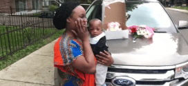 Nigerian man gifts wife SUV as her 30th birthday gift (Photos/Video)