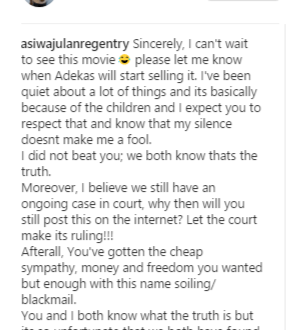 'I have been quiet because of our children' – Mercy Aigbe's husband warns her