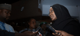 Aisha Buhari returns from the UK, speaks about the President's health (Photos)