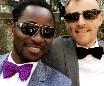 Bisi Alima and his husband step out for gay weddings (Photos)