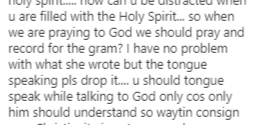 Tonto Dikeh speaks in tongue, goes spiritual; Fans react (Video)