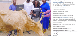 Olakunle Churchill donates fat cow to AY's family for their late parents' 17th year remembrance