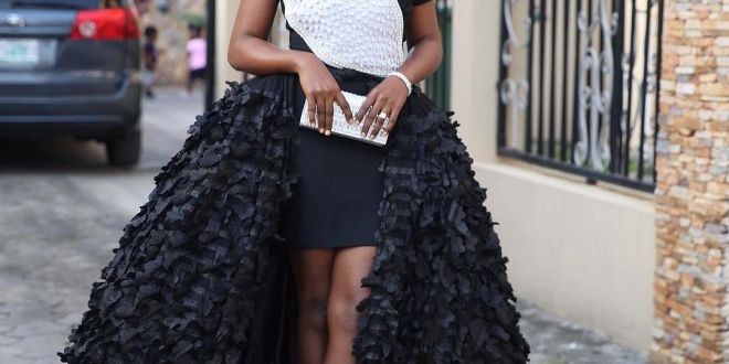 Lets talk about Omoni Oboli's outfit to premiere of her movie 'My Wife and I'