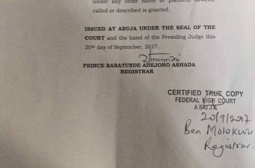 """Trouble For Nnamdi Kanu As Nigerian Court Declares IPOB """"Terrorist Group"""" (See Documents)"""