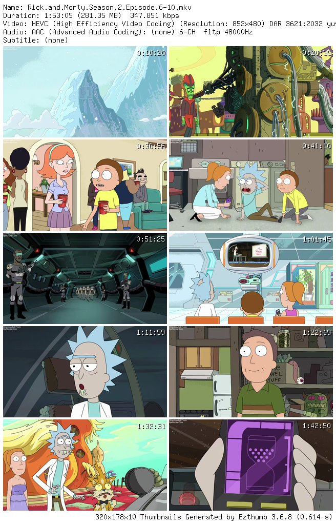 COMPLETE: Rick And Morty Season 2 Episode 1- 10