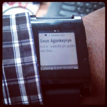 My pebble. Future of computing?