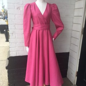 vintage custom made 60s wrap dress