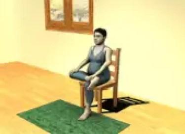 التمرين الثني وضعية الحمامة المعتدلة