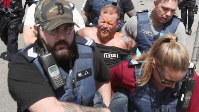 Man arrested at Far Right rally at St Kilda Beach