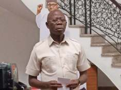 Adams Oshiomhole and Buhari