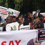 Anti Social Media Bil and Hate Speech bill protesters in Abuja Nigeria