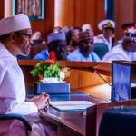 President Muhammadu Buhari at the Executive Council Meeting of the All Progressive Congress Party Abuja