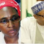 Finance Minister Zainab Ahmed and president Buhari