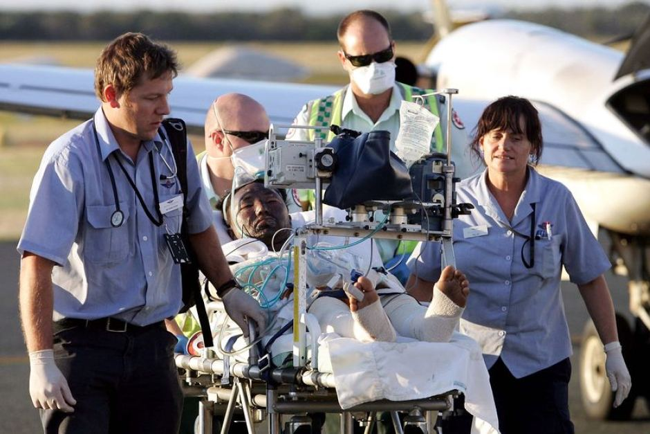 Medevac - Assylum seeker flown into Australia for treatment