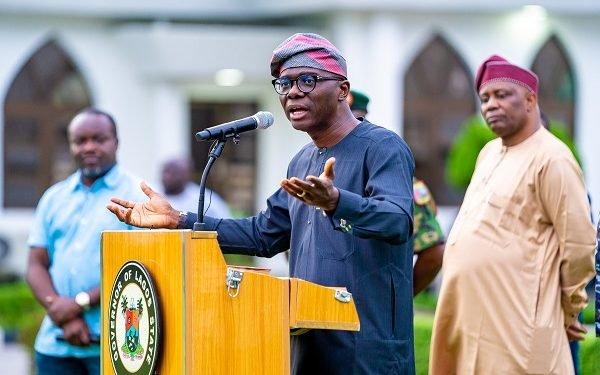 Lagos state Governor Babajide Sanwo Olu