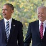 Former US President Barack Obama and Former Vice President Biden