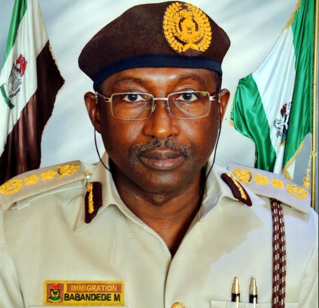 The Comptroller-General, Nigeria Immigration Service (NIS), Mr Muhammad Babandede