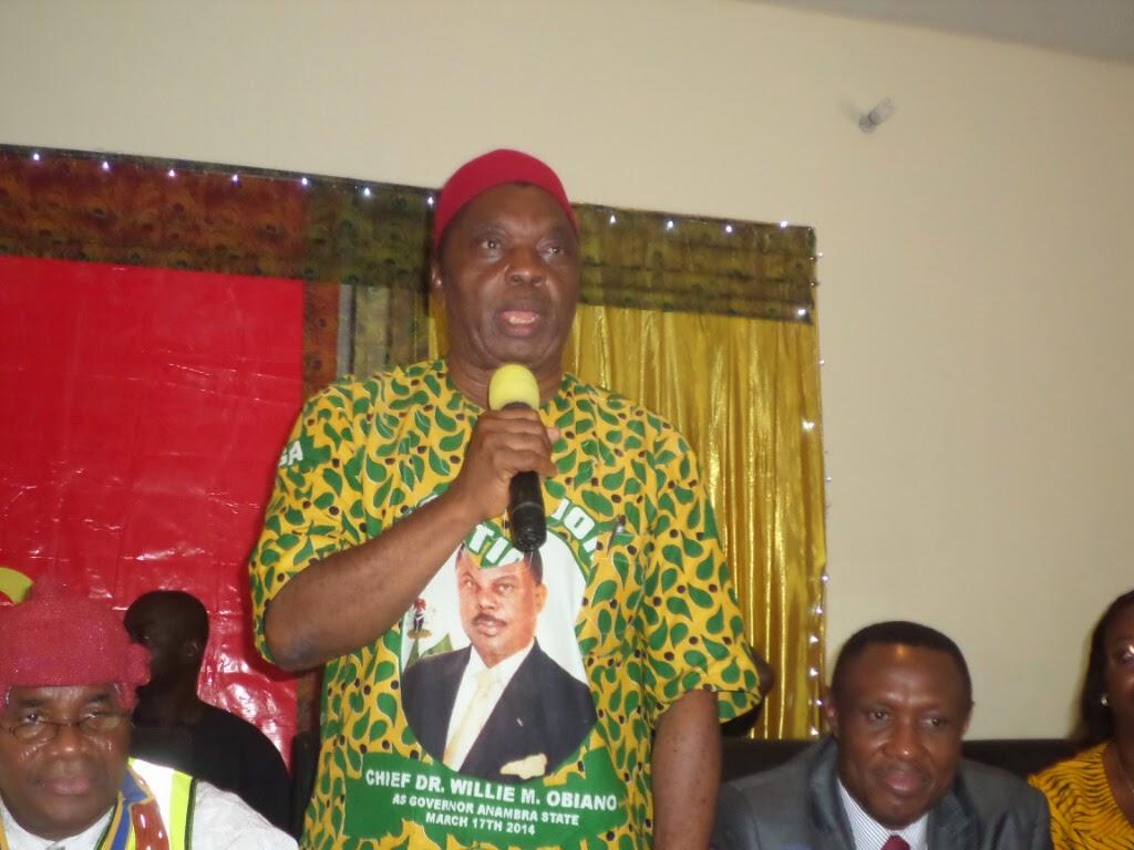 Anambra State APGA Chairman Sir Norbert Obi