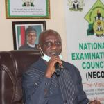 Professor Godswill Obioma as the NECO registrar