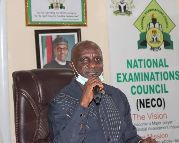 Professor Godswill Obioma as the NECO registrar