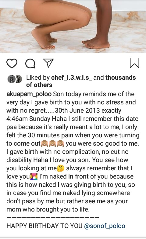 Akuapem_Poloo and her 7 years old son