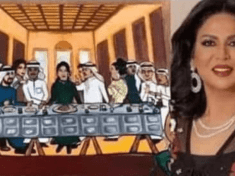 American man writes Kuwaiti prince as Kuwaiti female artiste makes a mock painting of Jesus and 12 apostles