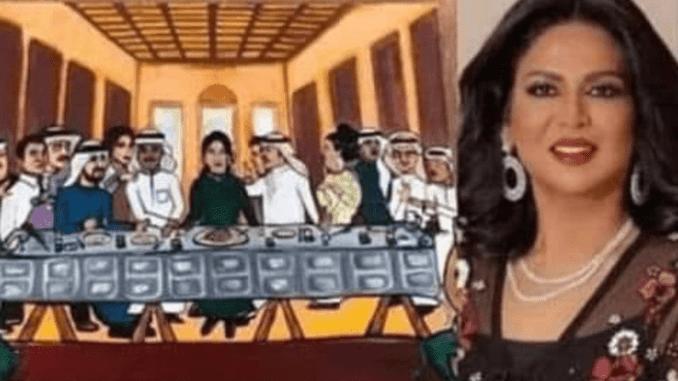 American man writes Kuwaiti prince as Kuwaiti female artiste makes a mock painting of Jesus and 12 apostles