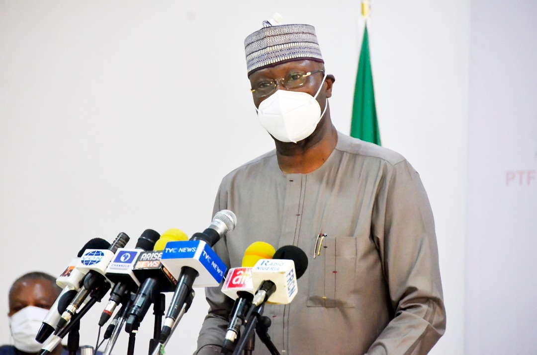 The Secretary to the Government of the Federation (SGF) and Chairman of the Presidential Task Force (PTF) on COVID-19, Boss Mustapha