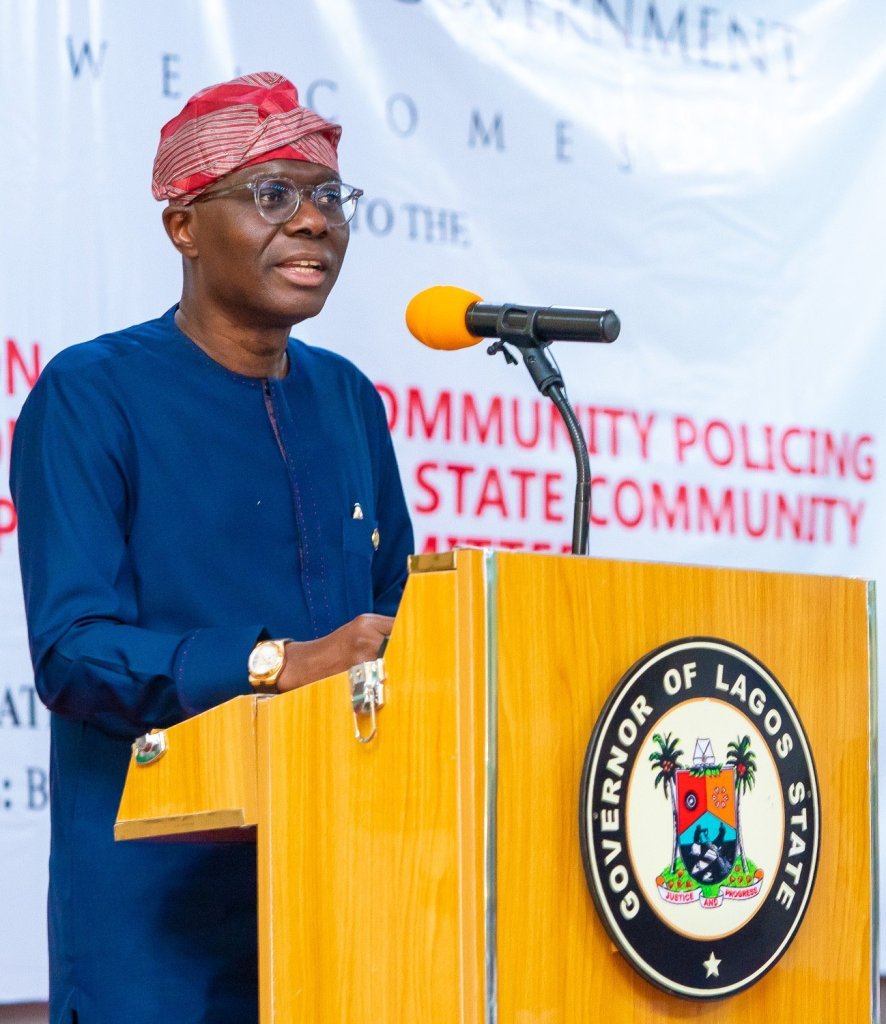 Governor Sanwo-Olu inaugurates Community Policing Committee to make Lagos state safer 1