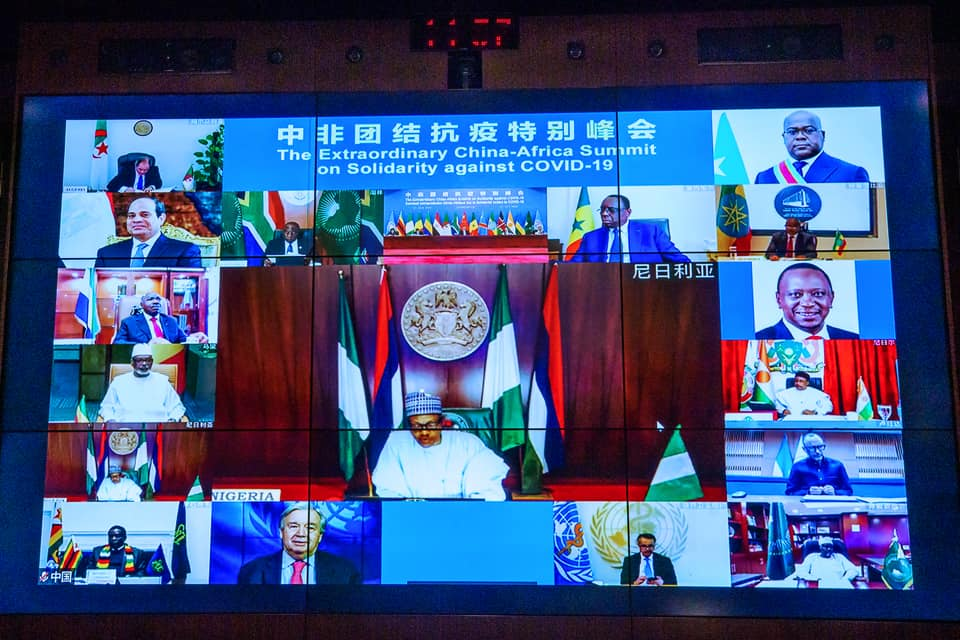 President Buhari participates in Virtual China-Africa Summit (Photos)