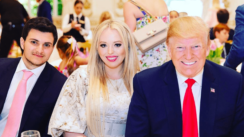 Michael Boulos, Tiffany Trump and President Donald Trump