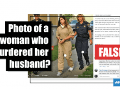 This woman did not murder her husband — the photo has been taken out of context