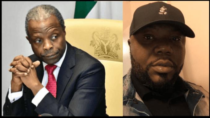 Vice President Yemi Osinbajo and Journalist Jackson Ude