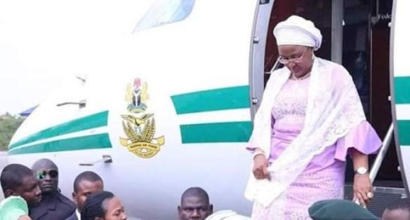 Aisha Buhari Flown to Dubai