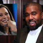 Kanye West and Kamala Harris