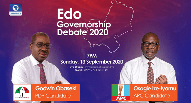 Obaseki (PDP) Ize-Iyamu (APC) Debate Rages On Right Now